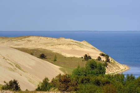 dunes and baltic sea near Nida, Lithuania
