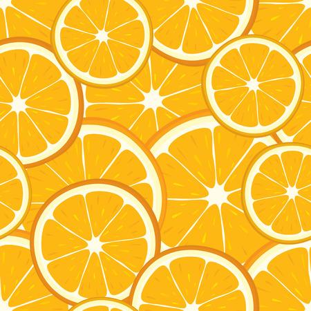 Foto de Vector seamless background of orange slices. - Imagen libre de derechos
