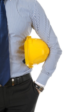 man with construction helmet