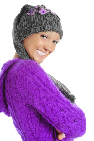 young woman in winter style
