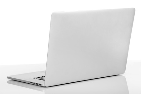 New laptop with a popular design  Isolated on white background