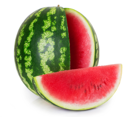 Photo for fresh watermelon isolated on white background - Royalty Free Image