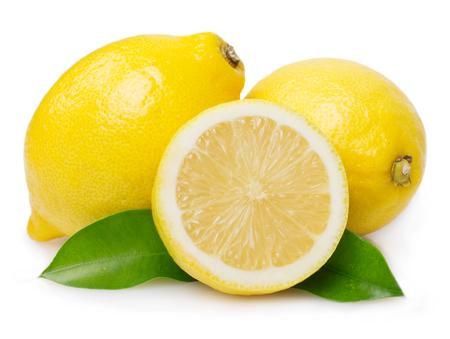 Photo for fresh lemon isolated on white background - Royalty Free Image