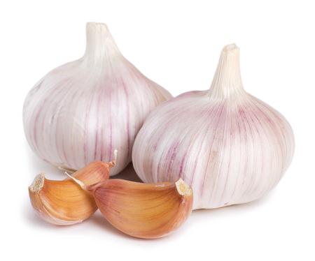 Photo for fresh garlic isolated on white background - Royalty Free Image