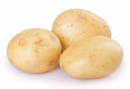 Photo pour raw potato isolated on white background - image libre de droit