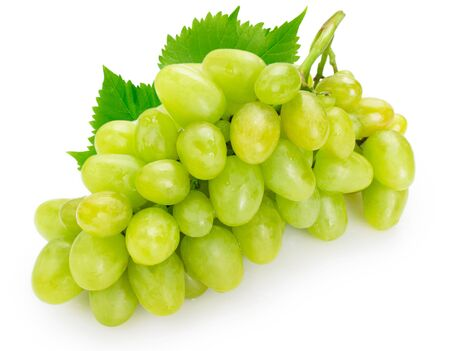 Photo for fresh green grape isolated on white background - Royalty Free Image