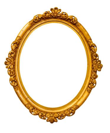Foto de vintage gold frame, isolated on white  - Imagen libre de derechos