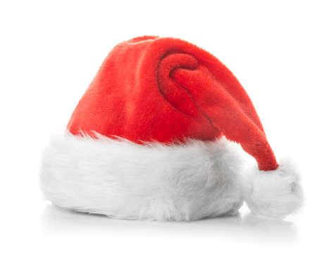 Photo pour Santa Claus red hat isolated on white background - image libre de droit