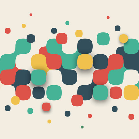 Photo pour Vector background. Illustration of abstract texture with squares. Pattern design for banner, poster, flyer. - image libre de droit