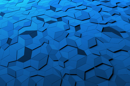Photo pour Abstract 3d rendering of blue surface. Background with futuristic polygonal shape. - image libre de droit