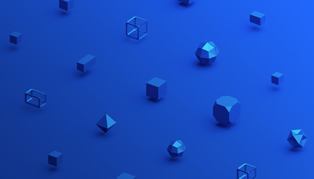 Photo pour Abstract 3d rendering of geometric shapes. Computer generated minimalistic background with cubes. Modern design for poster, cover, branding, banner, placard - image libre de droit