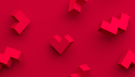 Abstract 3d rendering of geometric shapes. Modern background with simple forms. Minimalistic design for poster, cover, branding, banner, placard.