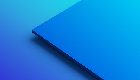 Photo pour Abstract 3d rendering of a surface with gradient. Modern geometric background. Minimalistic design for poster, cover, branding, banner, placard. - image libre de droit