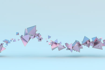 Photo pour Abstract 3d rendering of geometric shapes. Modern background design for poster, cover, branding, banner, placard. - image libre de droit