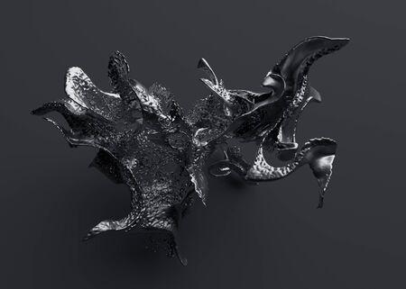 Foto de Abstract 3d render modern  design liquid shape - Imagen libre de derechos
