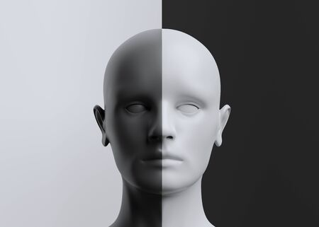 Photo for Abstract human head modern design - Royalty Free Image