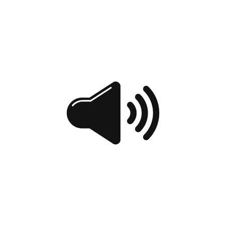 Illustration for Sound volume icon vector sign on white background EPS10 - Royalty Free Image