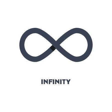 Ilustración de Limitless sign icon. Infinity symbol   isolated on white background - Imagen libre de derechos