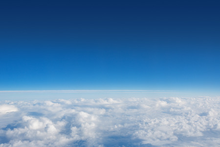 Photo for Above The Clouds Photo of puffy clouds - Royalty Free Image