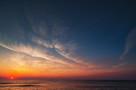 Foto de Beautiful cloudscape over the sea, sunrise shot - Imagen libre de derechos