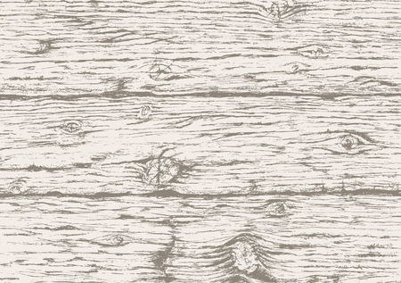 Illustration pour Gray wooden texture background. Hand drawn old wood  board. Gray wooden horizontal planks background. Vector sketch. - image libre de droit