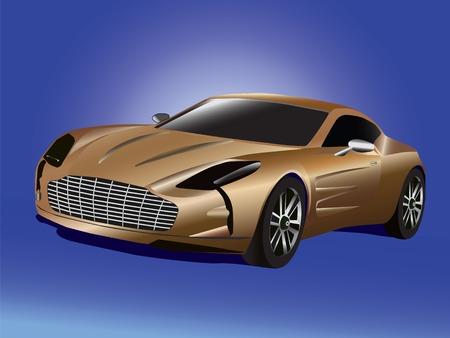 Isolated graphic illustration of modern elegant car