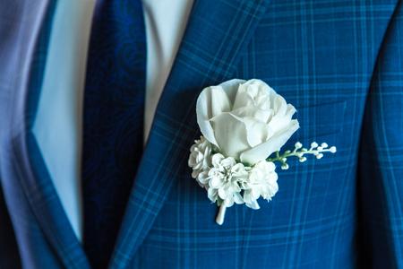 Photo pour White wedding pink man on white - image libre de droit