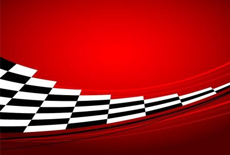 Illustration pour racing red background - image libre de droit
