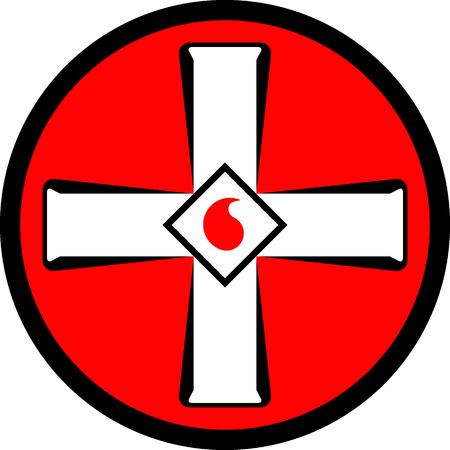 Illustration pour Emblem of the Ku Klux Klan. Vector illustration - image libre de droit