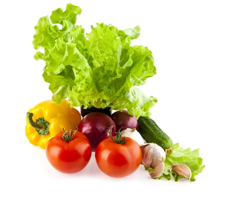 vegetables on a white background の写真素材