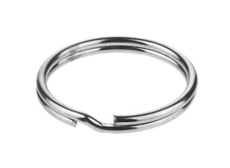 Photo pour Metal ring isolated on a white background. - image libre de droit