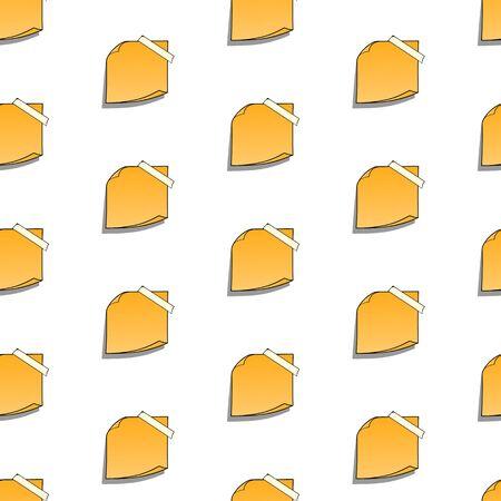 Ilustración de Seamless pattern with stickers paper notes. Vector illustration - Imagen libre de derechos