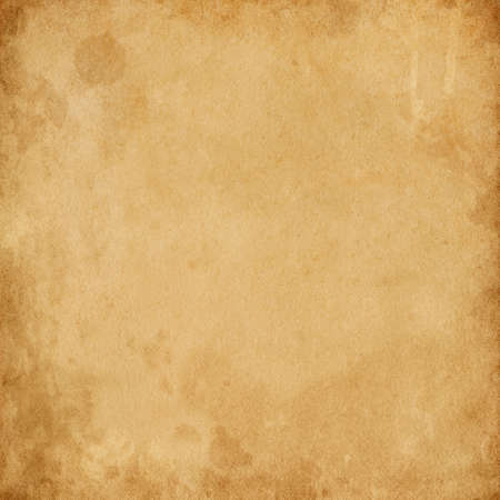Photo pour Old brown vintage paper with spots and streaks for design, empty space for text, texture of dirty rough paper - image libre de droit