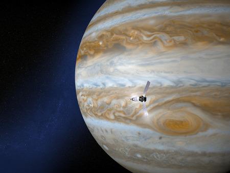 Jupiter and Juno space probe