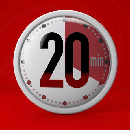 Time, clock, timer, stopwatch 20 minutes