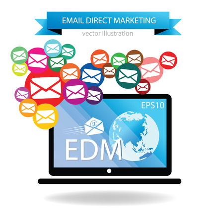 email direct marketing Illustration