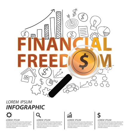 Financial freedom and business concept. vector illustration.