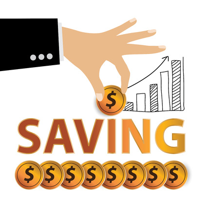 Save money. Financial and business concept. vector illustration.