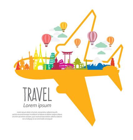 Illustration pour Travel and tourism concept vector Illustration - image libre de droit