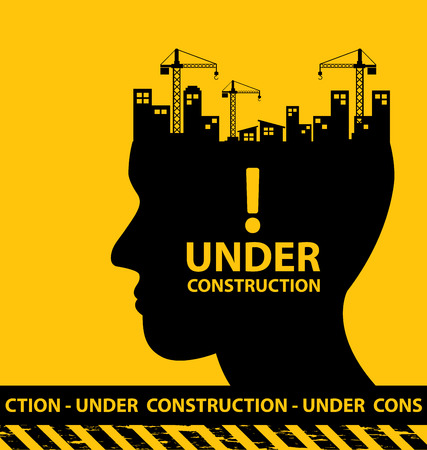 Ilustración de under construction background vector illustration - Imagen libre de derechos