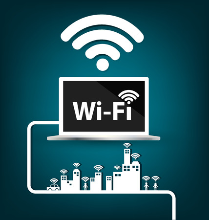 Wifi , internet and network concept. vector illustration.