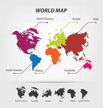 World Map vector Illustration