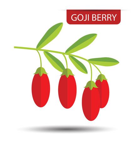 Illustration pour Goji berry vector illustration - image libre de droit