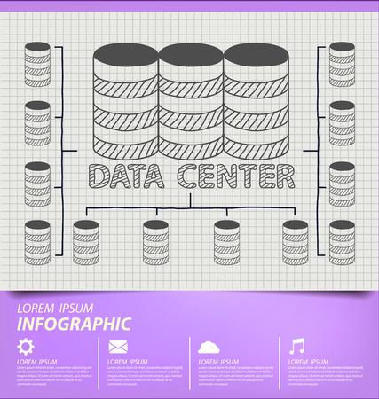 Data center concept vector Illustration