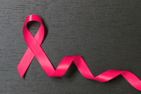 Photo for healthcare and medicine concept. pink breast cancer awareness ribbon. - Royalty Free Image
