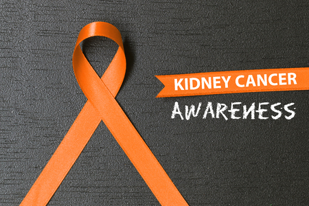 Photo for Orange ribbon. healthcare and medicine concept. Kidney cancer awareness. - Royalty Free Image