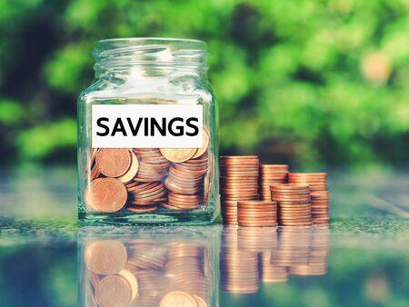 Photo pour Saving Money for prepare in the future. Money growth concept. - image libre de droit