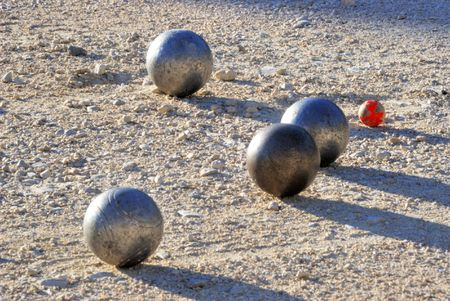 Playing jeu de boules in France,Europe