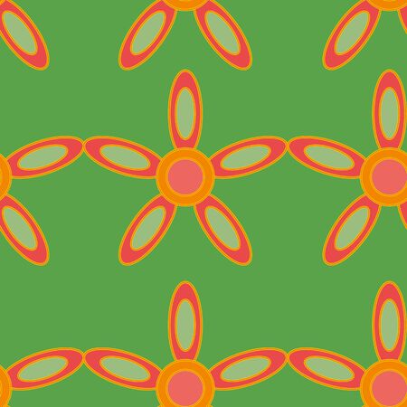 Photo for Colorful retro repeat pattern print background - Royalty Free Image