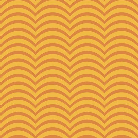 Illustration pour Abstract wave vintage figures repeat pattern print - image libre de droit
